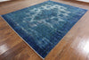 9 X 12 Overdyed Blue Oriental Rug - Golden Nile
