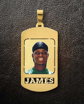 Large Photo Dog Tag Pendant