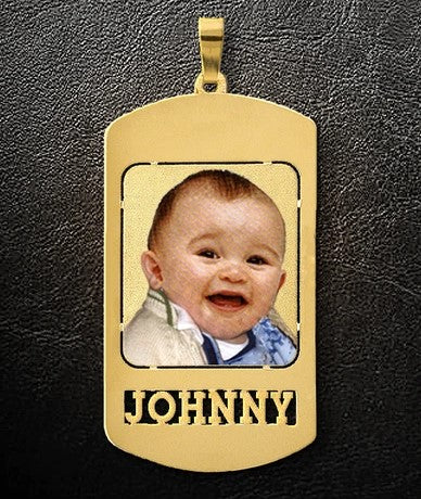 Small Photo Dog Tag Pendant