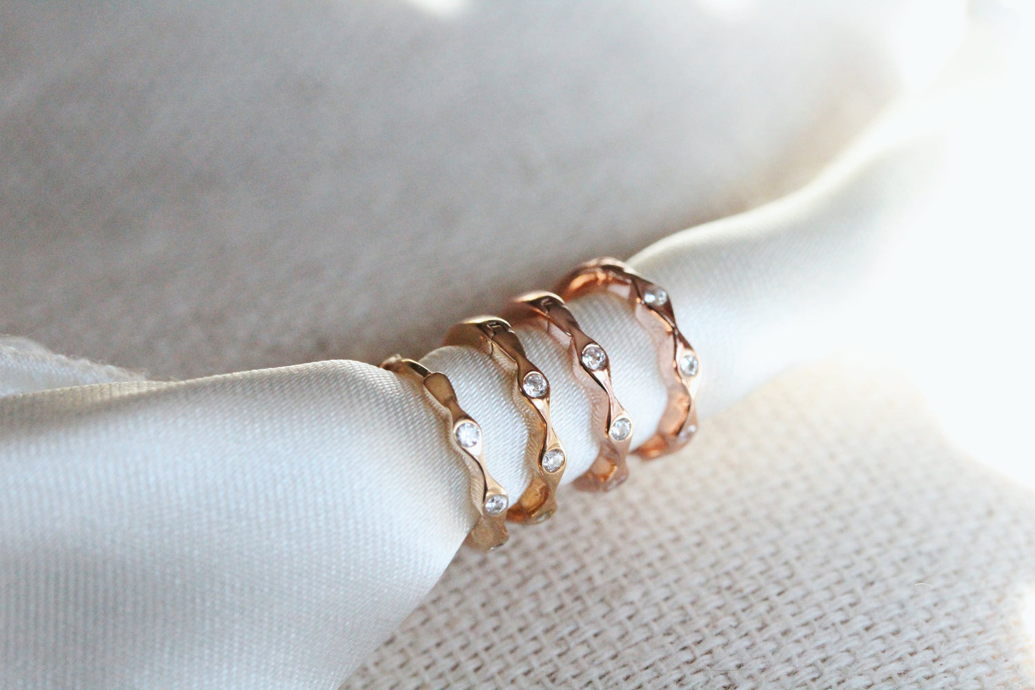 Dainty Crown Huggie Hoops