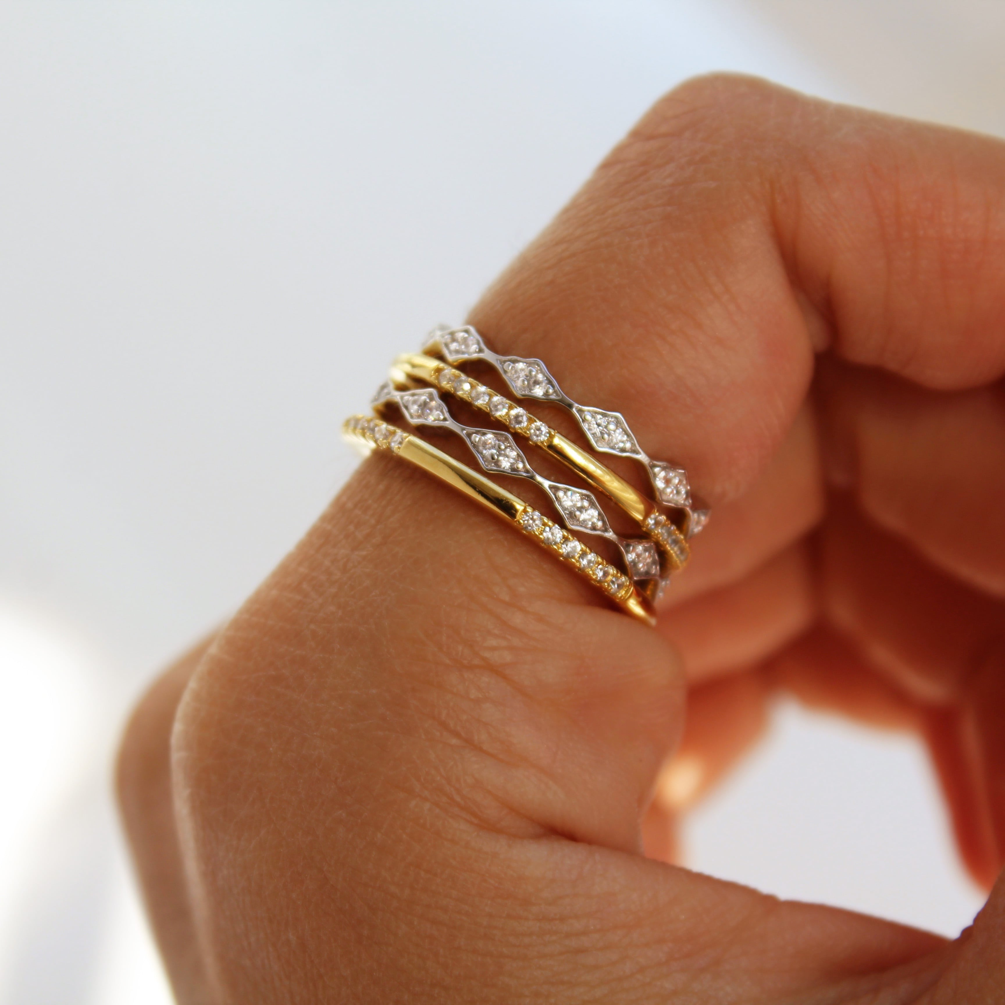 Gold & Silver Stacking Bands