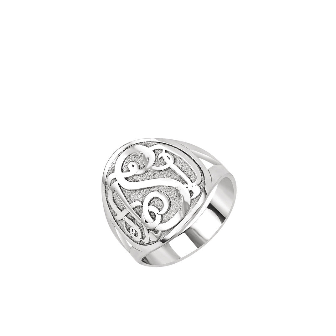 Kimiya Jewelers 3-Letter Script Monogram Ring