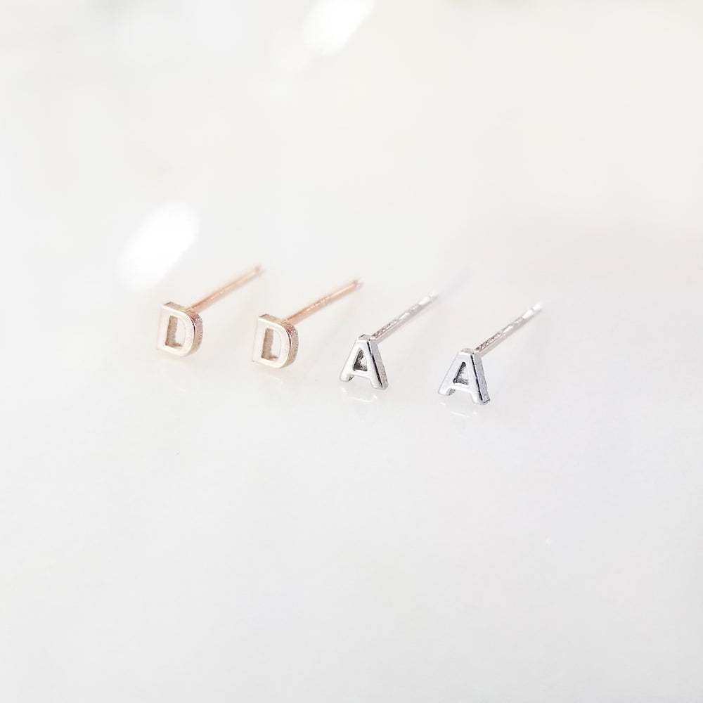 Kimiya Jewelers Mini Initial Earrings
