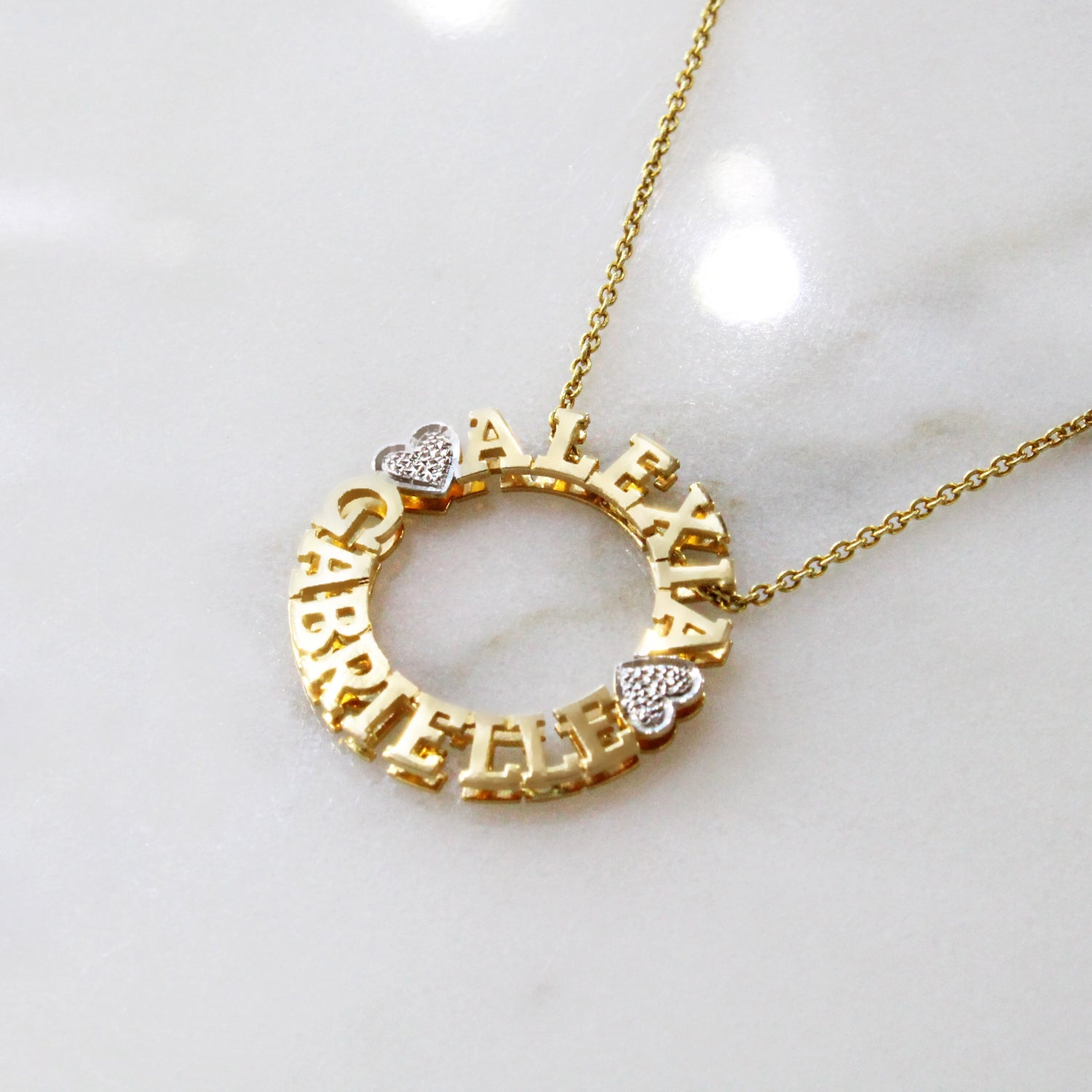 Kimiya Jewelers Circle Name Necklace