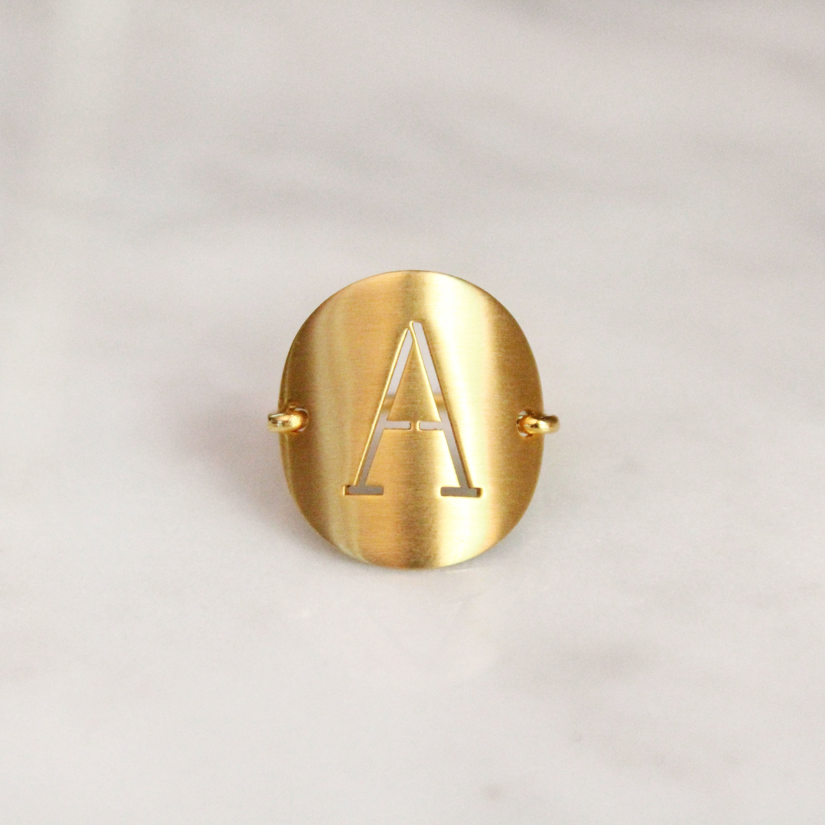 Cut Out Letter Ring