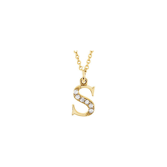 Kimiya Jewelers Diamond Initial Necklace