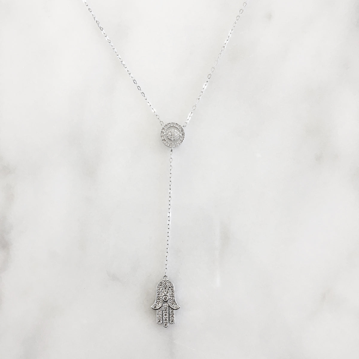 Fatima Lariat Necklace