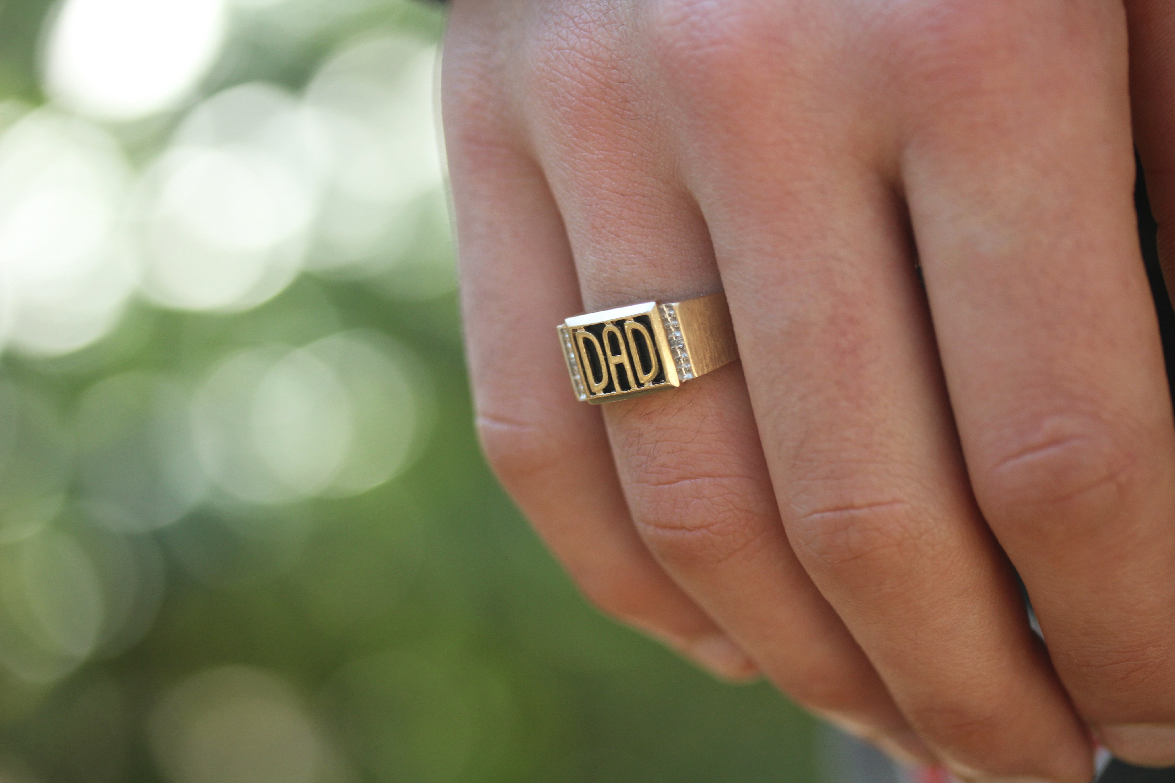 Personalizable Men's Name Ring/Dad Ring