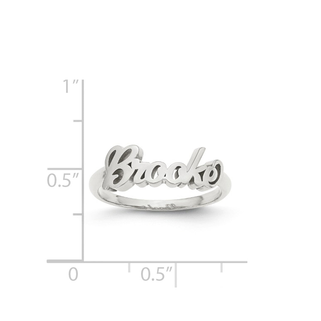 Kimiya Jewelers Script Name Ring