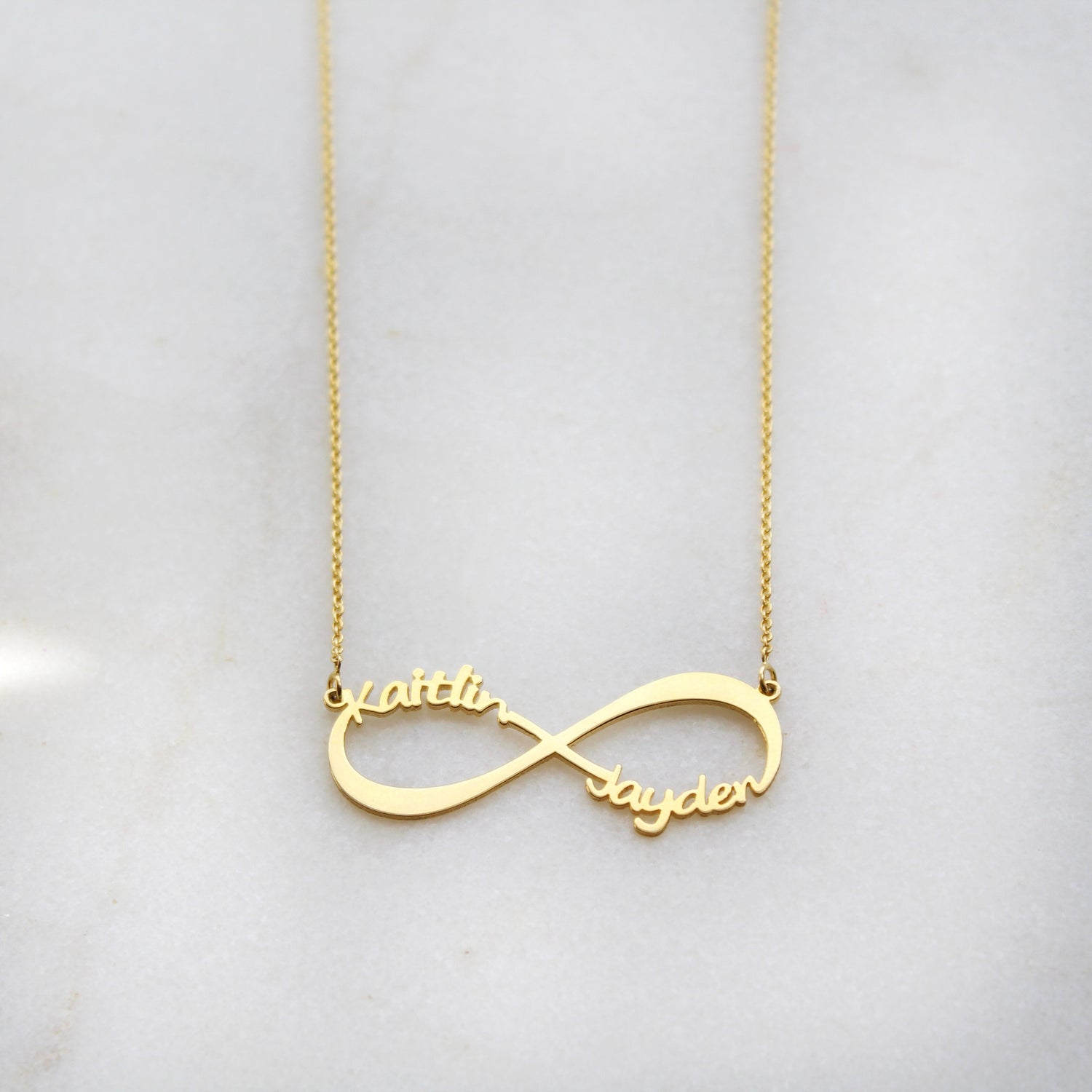 Kimiya Jewelers Personalizable Infinity Necklace