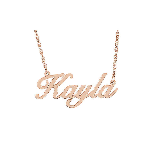 Kimiya Jewelers Script Nameplate Necklace