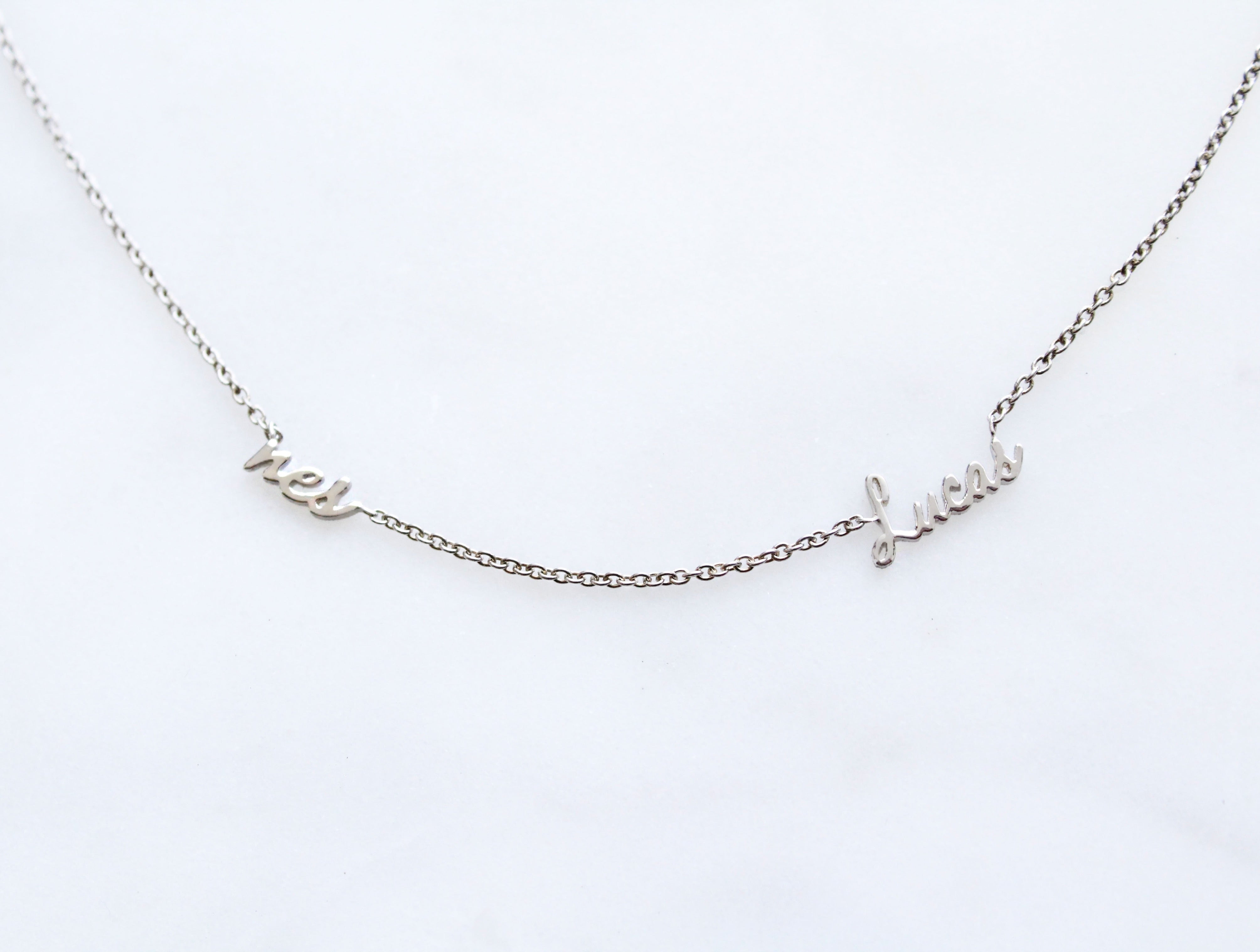 Kimiya Jewelers Double Name Necklace