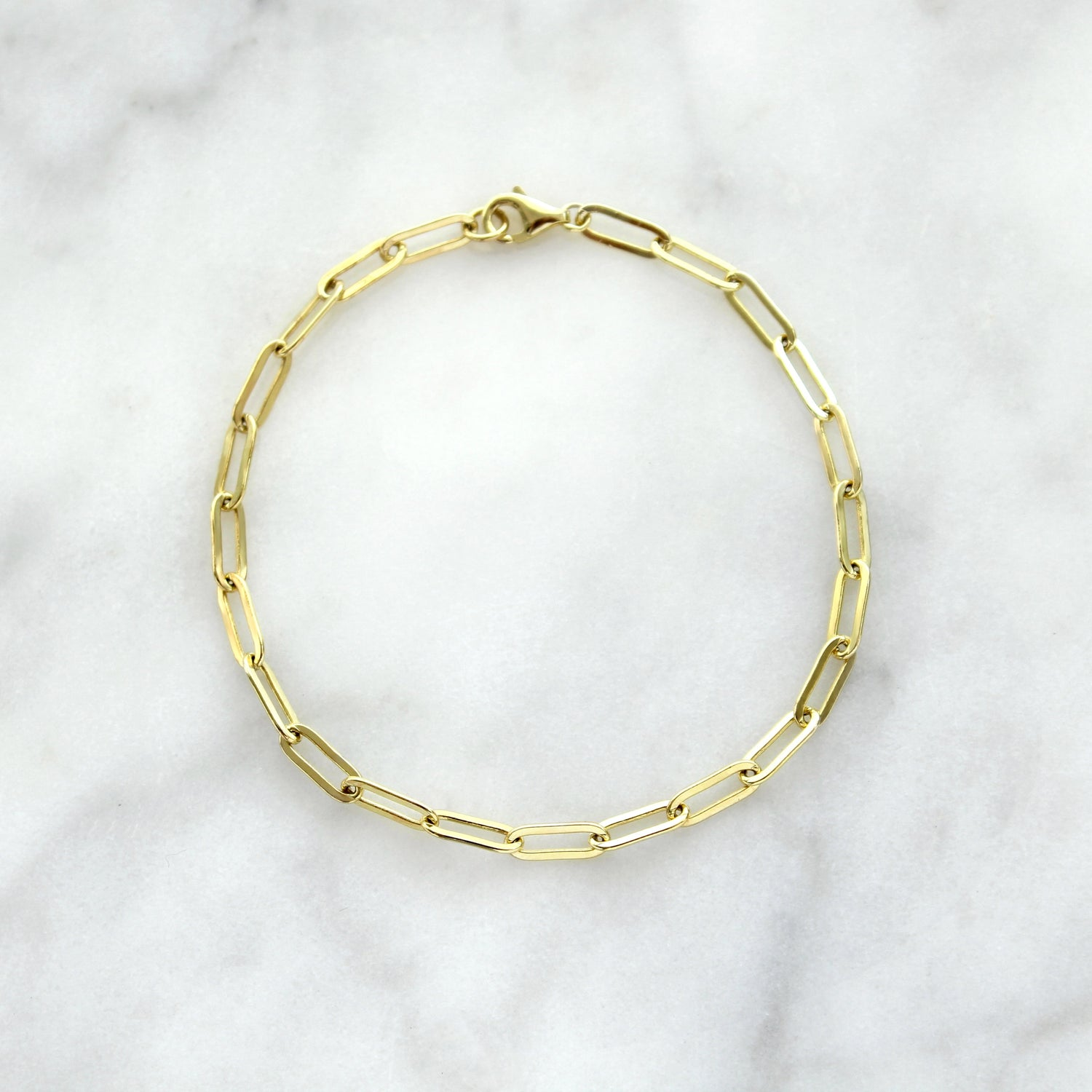 Light Oval Link Bracelet