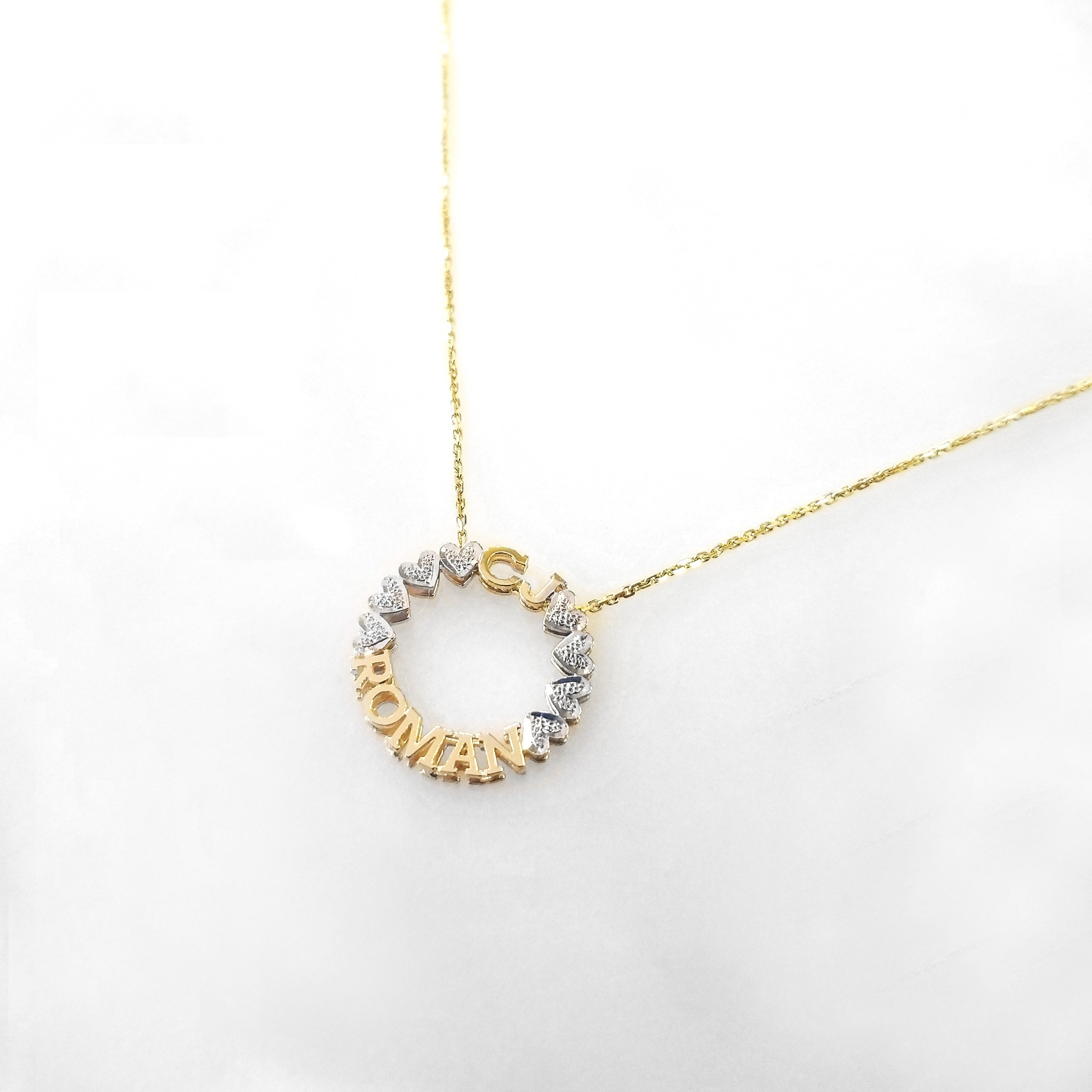 Mini Circle Name Necklace