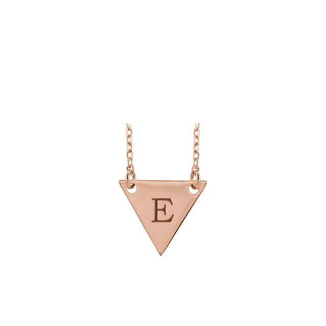 Kimyia Jewelers Engravable Triangle Necklace