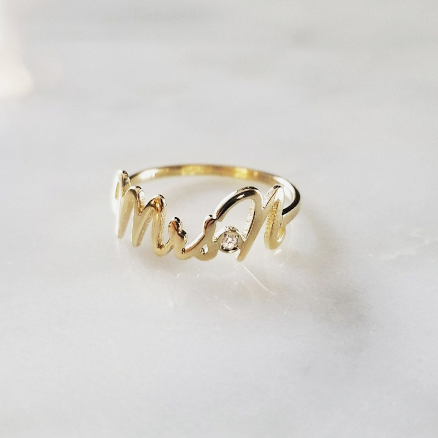 Script Name Ring/Mrs Wedding Band