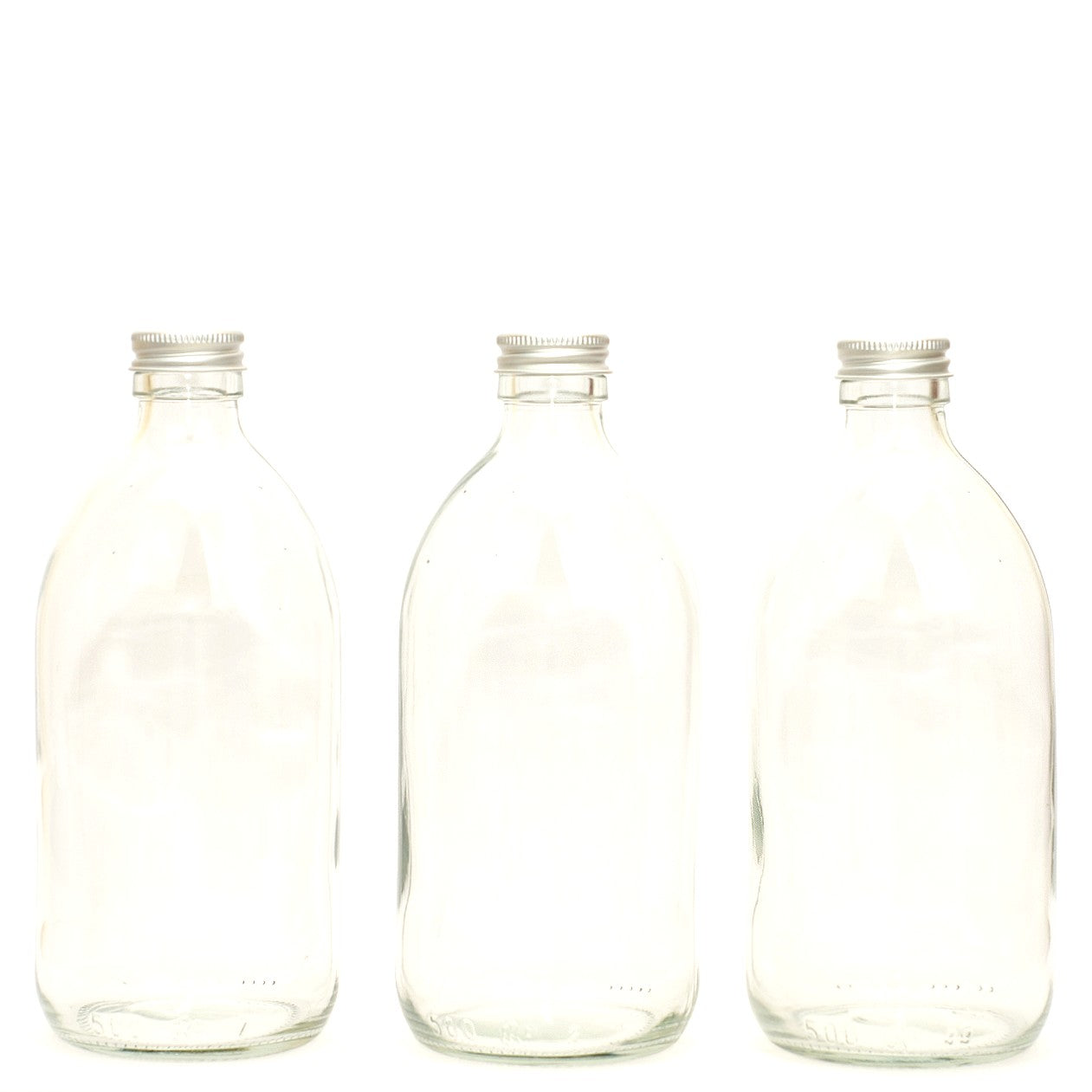 Clear Glass Refillable Bottles
