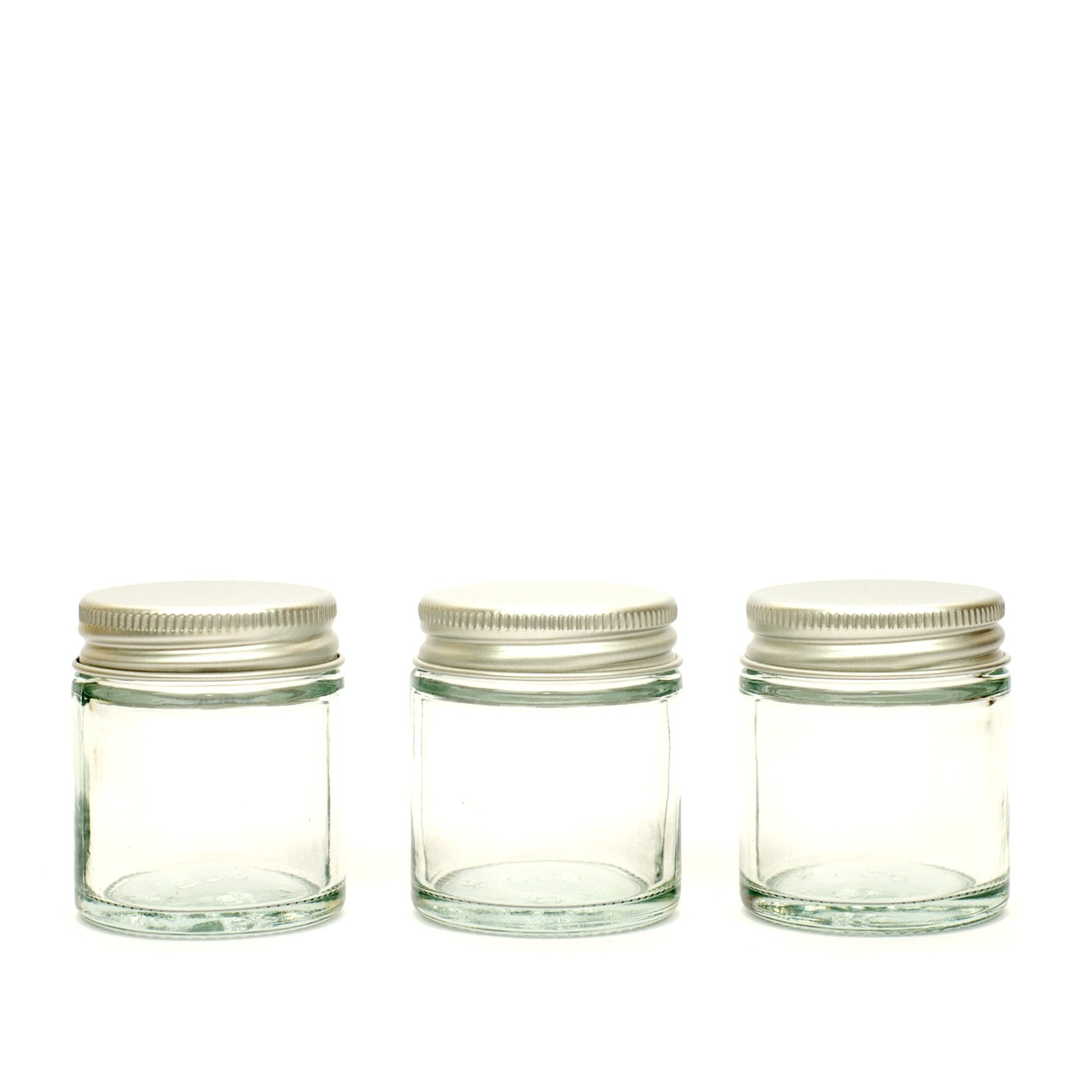 Clear Glass Refillable Jars