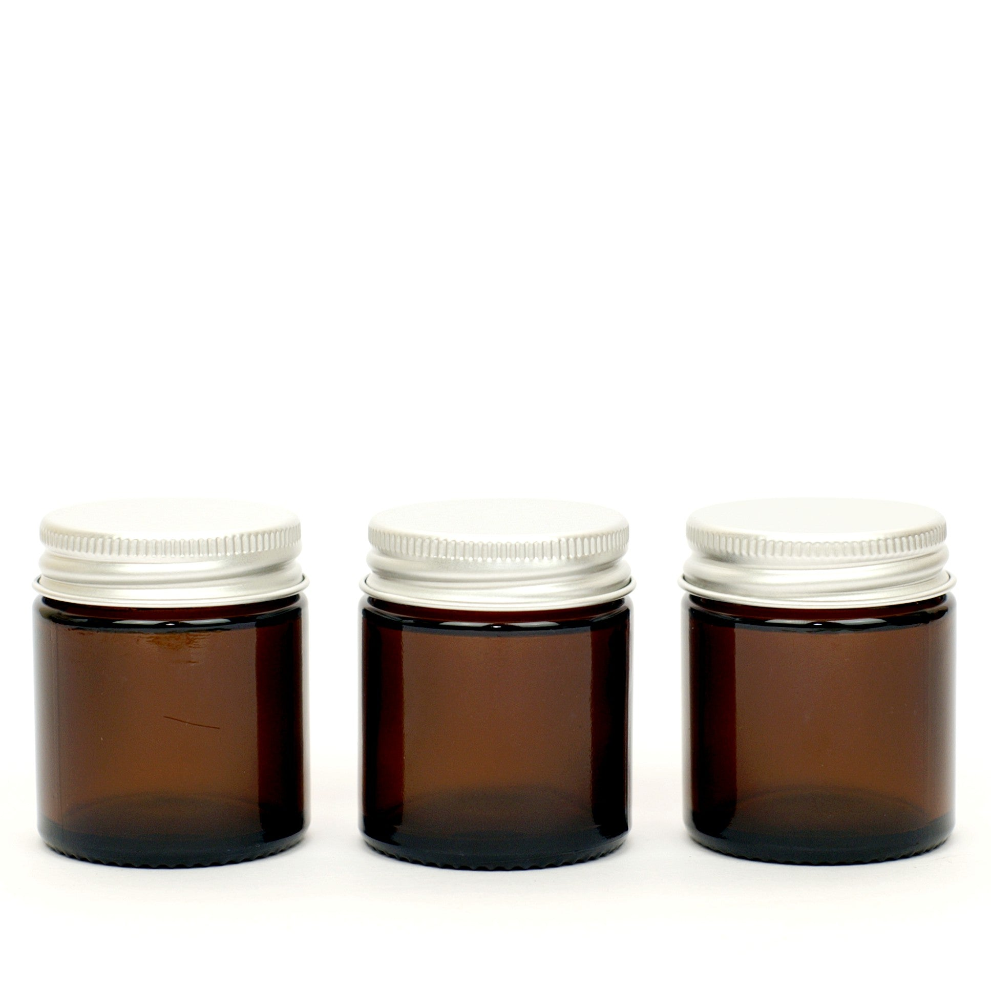 Amber Glass Refillable Jars