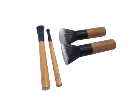 Flawless makeup brush set - bamboo, vegan and professional