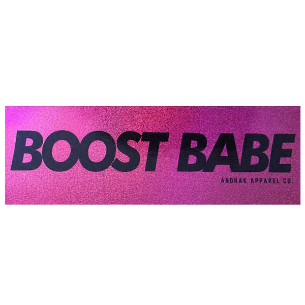 Boost Babe Glitter Holographic Slap Sticker - Anorak Apparel