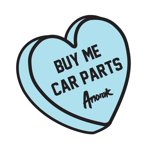 Buy Me Car Parts Heart Sticker - Anorak Apparel