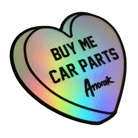 Buy Me Car Parts Sticker (Oil Slick)