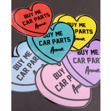 Buy Me Car Parts Sticker (Bby Blue)