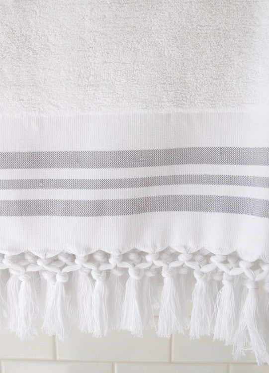 Wevist Luxe Plush Towel.  White Solid.  Handwoven.  100% Organic Cotton