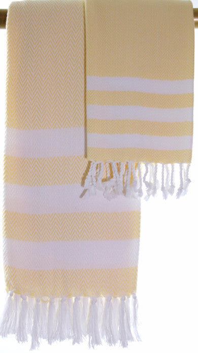 Wevist Briza Pestemel in Butter, Hand Woven, 100% Organic Cotton