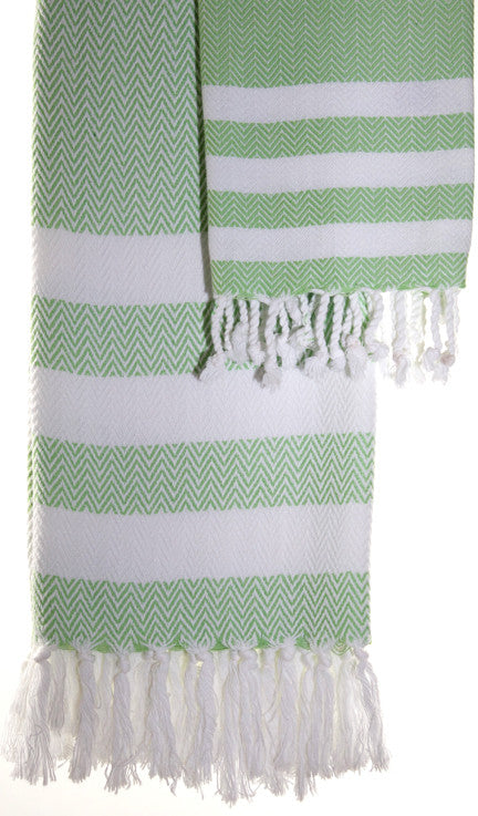 Wevist Briza Pestemel in Key Lime, Hand Woven, 100% Organic Cotton