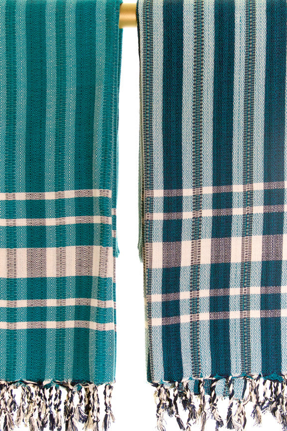 Wevist Diablo Pestemel. Emerald Green.  Handwoven. 100% Organic Cotton