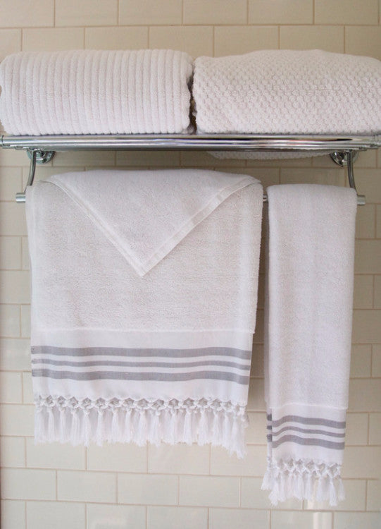Wevist Luxe Plush Towel.  White Collection.  Handwoven.  100% Organic Cotton