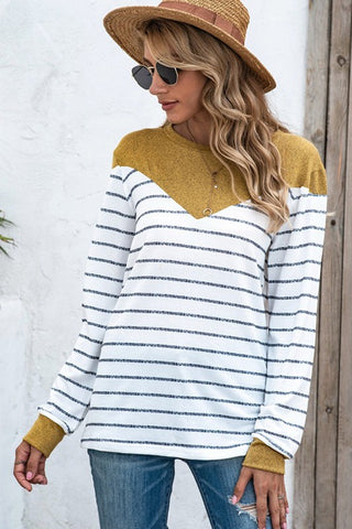 Cozy Round Neckline Long Sleeves Blouse