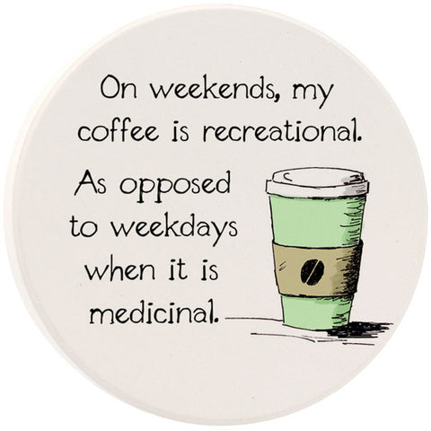 On Weekends My Coffee Car Coaster