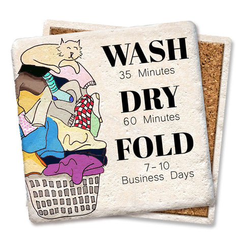 Wash Dry Fold Drink Coaster