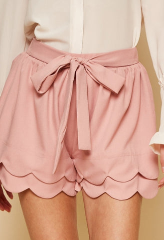 Mauve Tiered Shorts