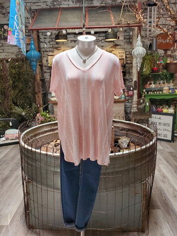 Blush Short Sleeve T-Shirt Tie Dye