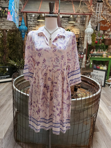 Botanical Garden Dress- Pink