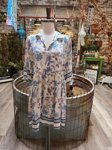 Botanical Garden Dress- White