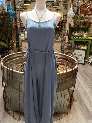 Blue Jumpsuit with Wide Leg