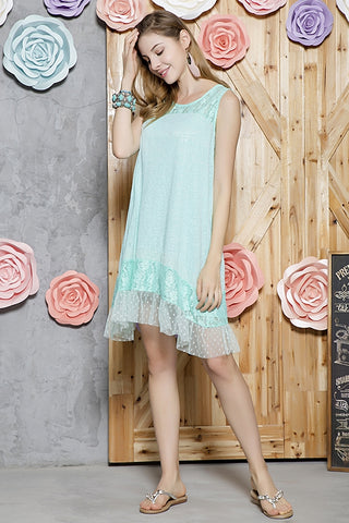 Mint Sleeveless Lace Tunic/Dress