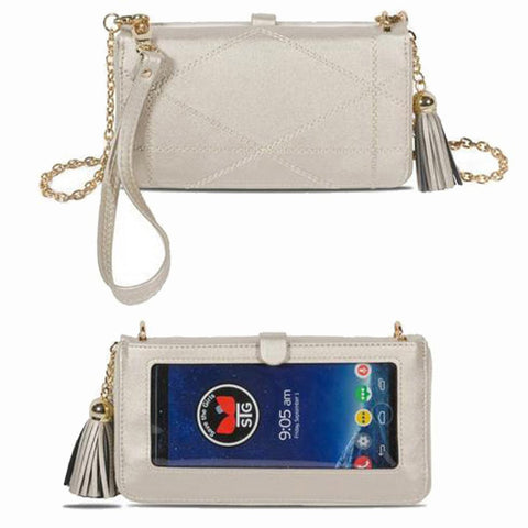 Cream Circle Straw Clutch Purse