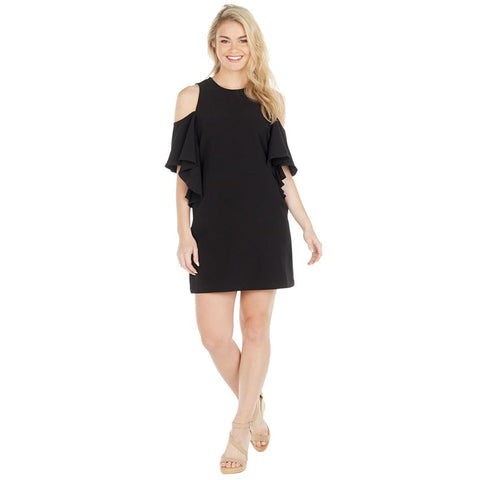 Cold Shoulder Dress in Black
