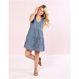 Tiered Dress in Blue