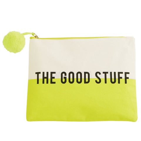 THE GOOD STUFF CANVAS MAKEUP CASE