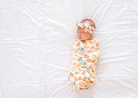 Citrus Swaddle Blanket
