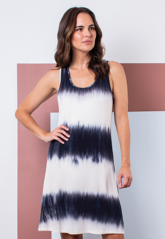 Tie Dye Dress( Steel, Navy, or Blush)