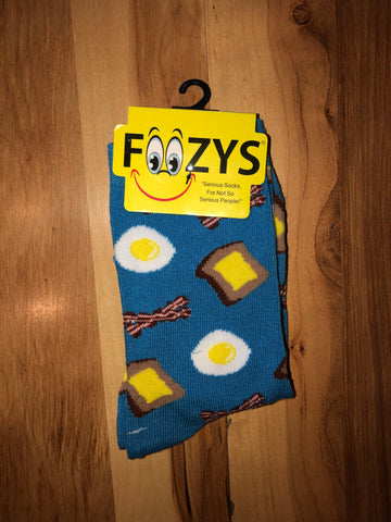 Bacon and Egg Socks (Blue)