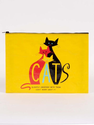 Cats. Slightly Obsessed With Them. (Don't Worry About It) Jumbo Pouch
